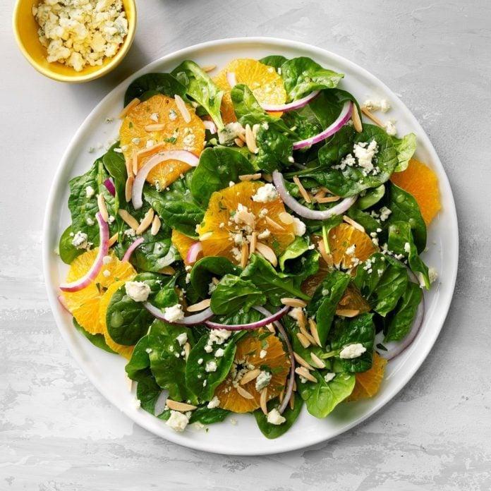 Onion Orange Spinach Salad