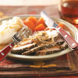 Onion-Topped Herbed Pork Roast
