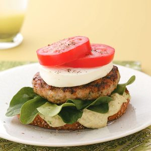 Open-Faced Chicken Avocado Burgers for Two