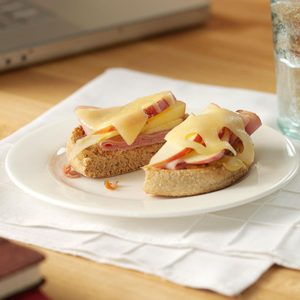 Open-Faced Ham and Apple Melts