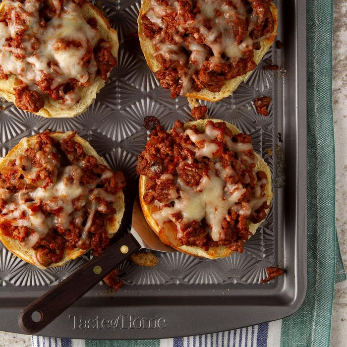 Open-Faced Pizza Burgers