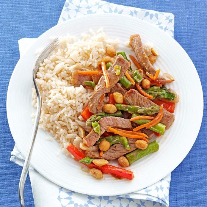 Orange Beef and Asparagus Stir-fry