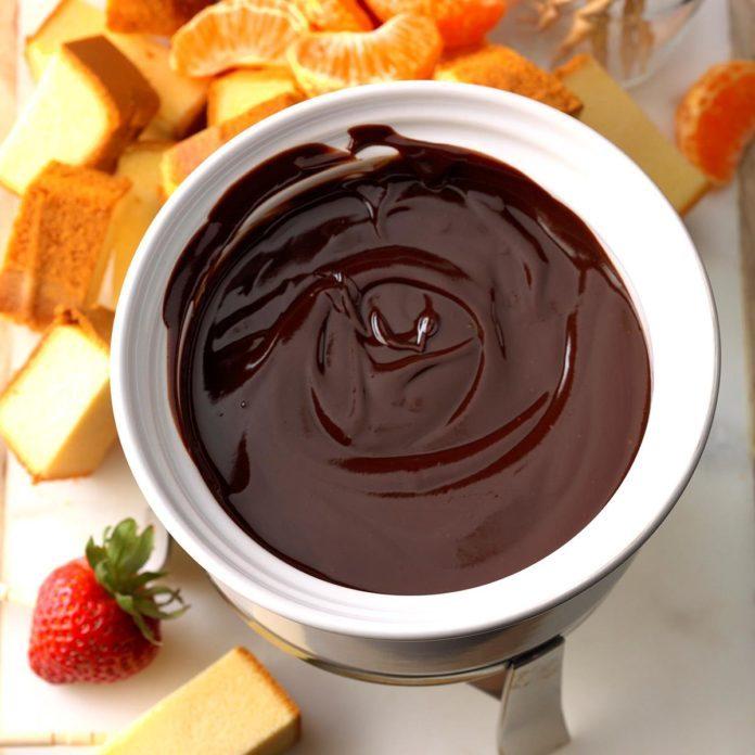 Orange Chocolate Fondue