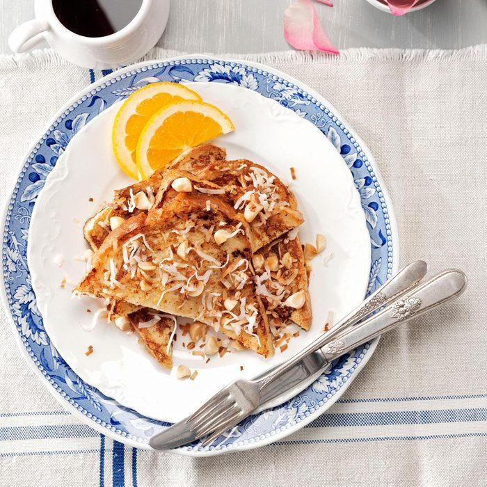 Orange-Coconut French Toast