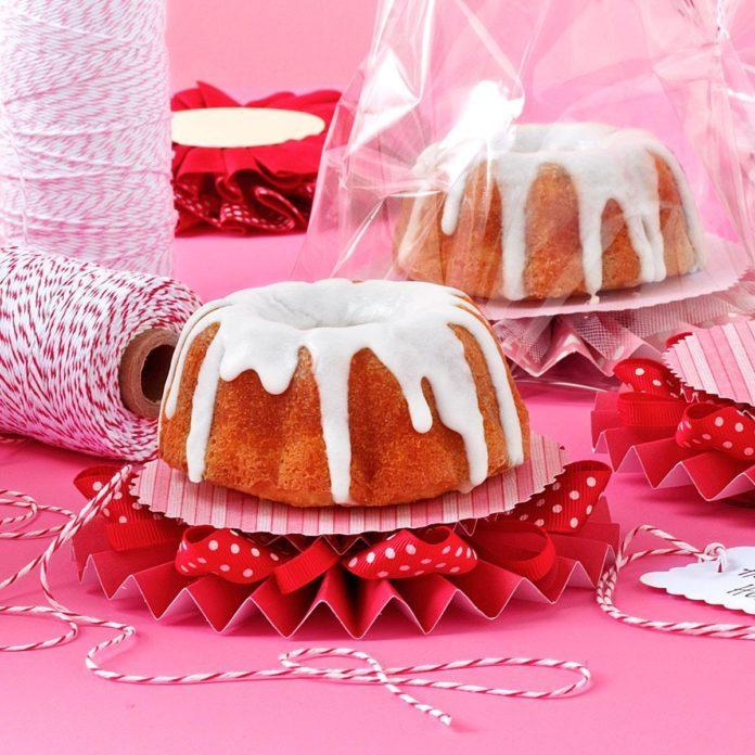 Orange Cranberry Pound Cake with Vanilla Glaze
