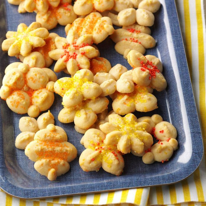 Orange Spritz Cookies