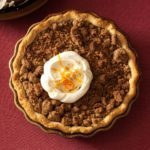 Orange Sweet Potato Pie with Ginger Streusel