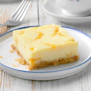 Orange-Swirled Cheesecake Dessert