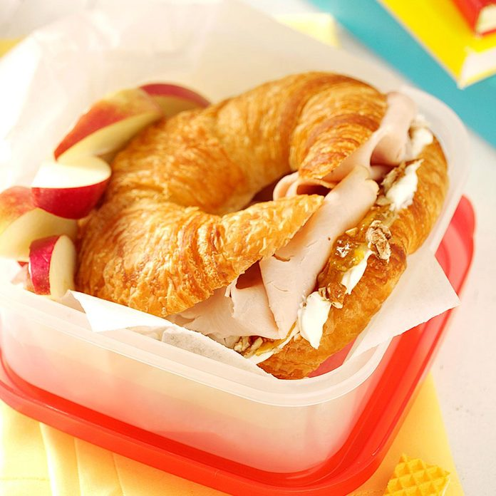 Orange Turkey Croissants