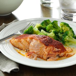 Oven-Barbecued Salmon