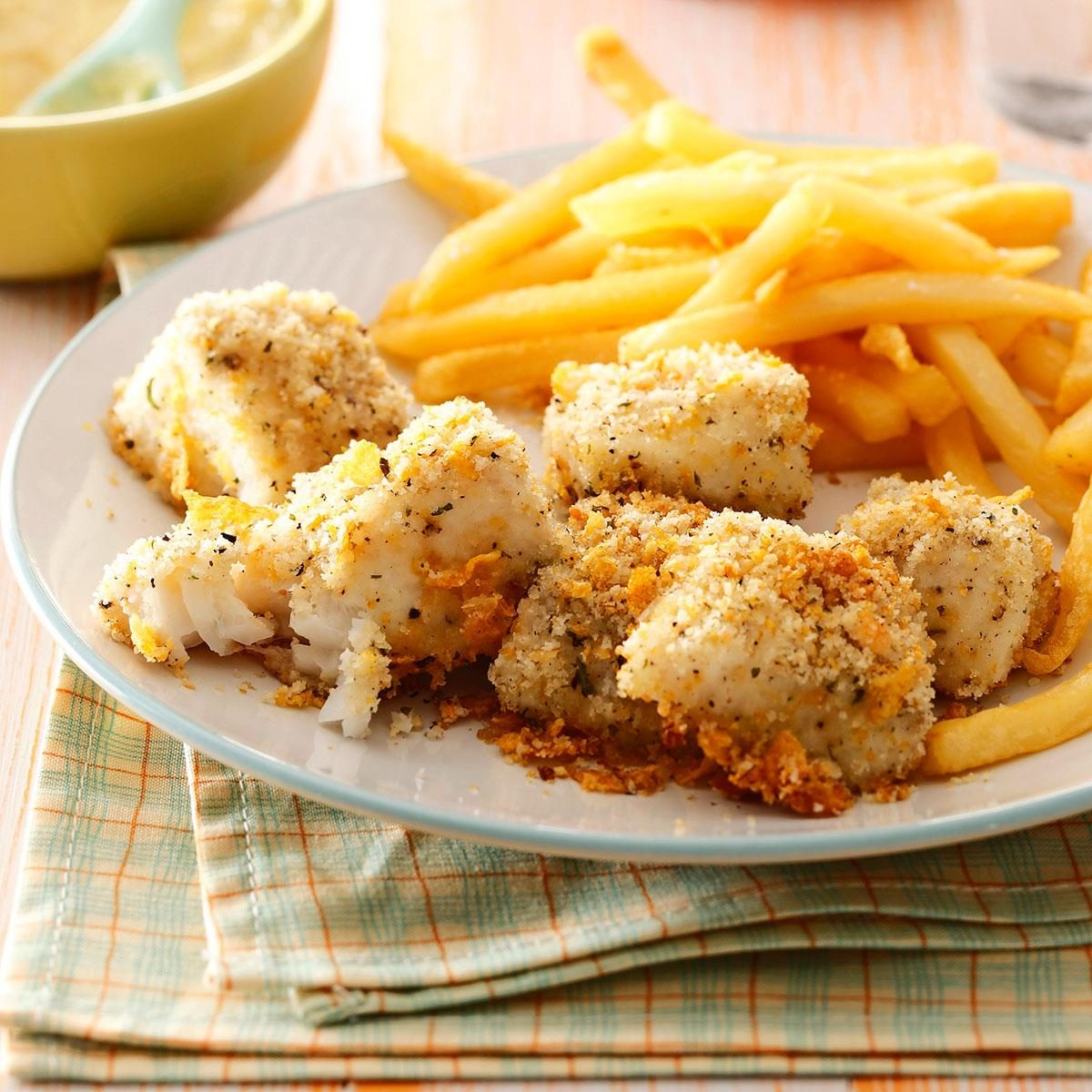 Oven-Fried Fish Nuggets