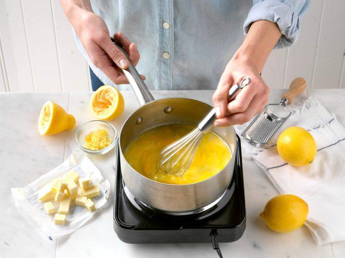 Whisking Lemon Curd