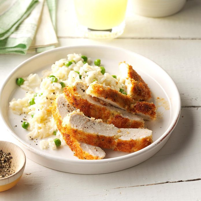 Parmesan Chicken with Lemon Rice