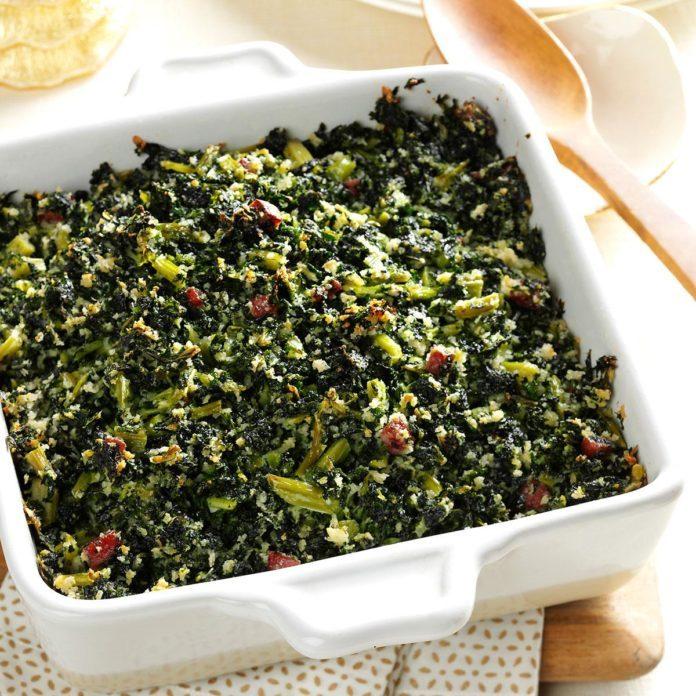 Parmesan Kale Casserole
