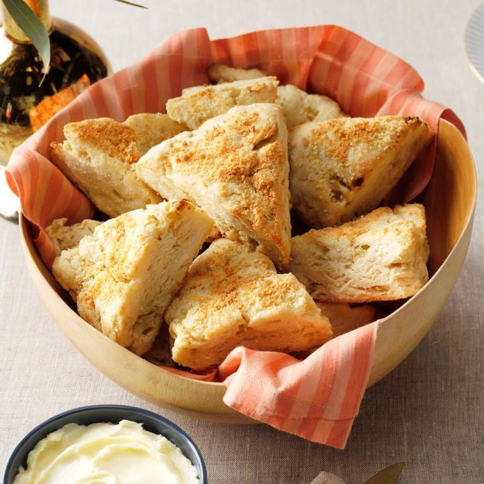 basket of parmesan scones