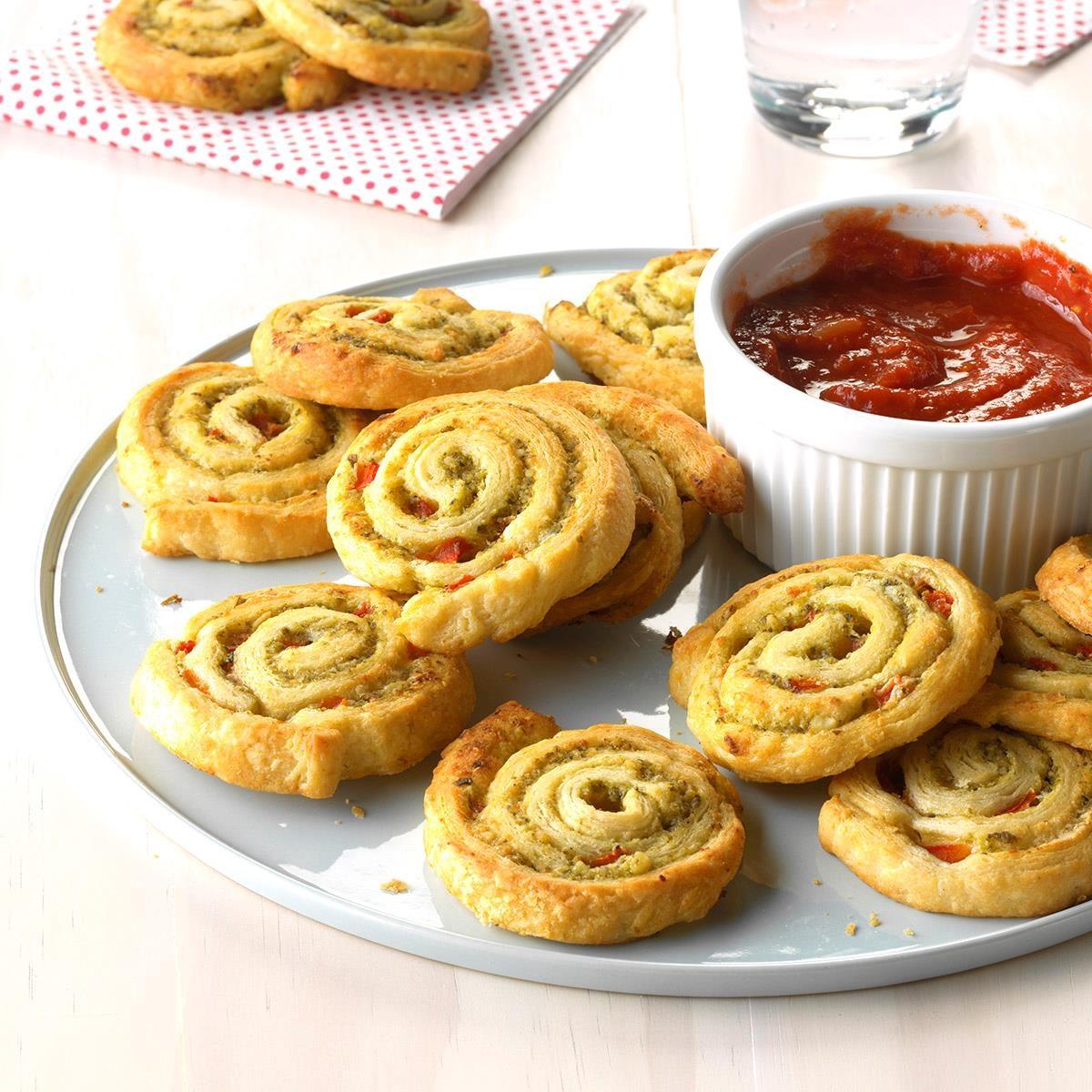 Party Pesto Pinwheels Recipe Taste Of Home