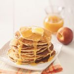 Peach Pancakes with Butter Sauce