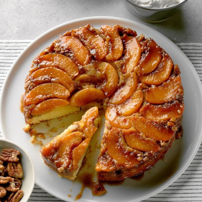 Peach Praline Upside-Down Cake