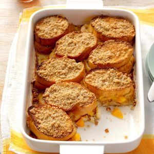 Peach-Stuffed French Toast