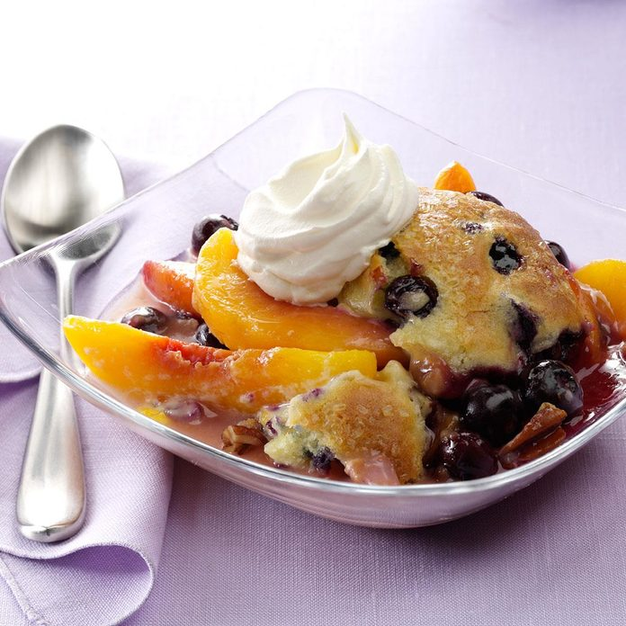 Peach and Berry Bliss Cobbler