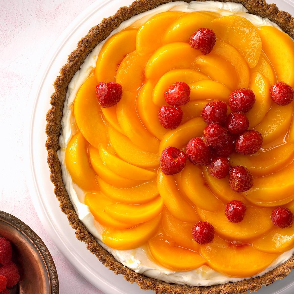 Peaches: Peaches 'n' Cream Raspberry Tart
