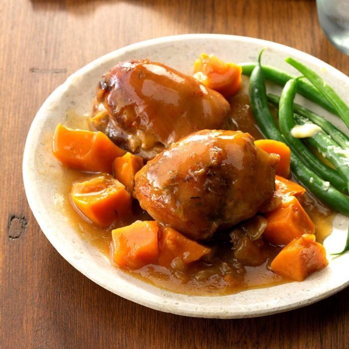 Peachy Chicken with Sweet Potatoes