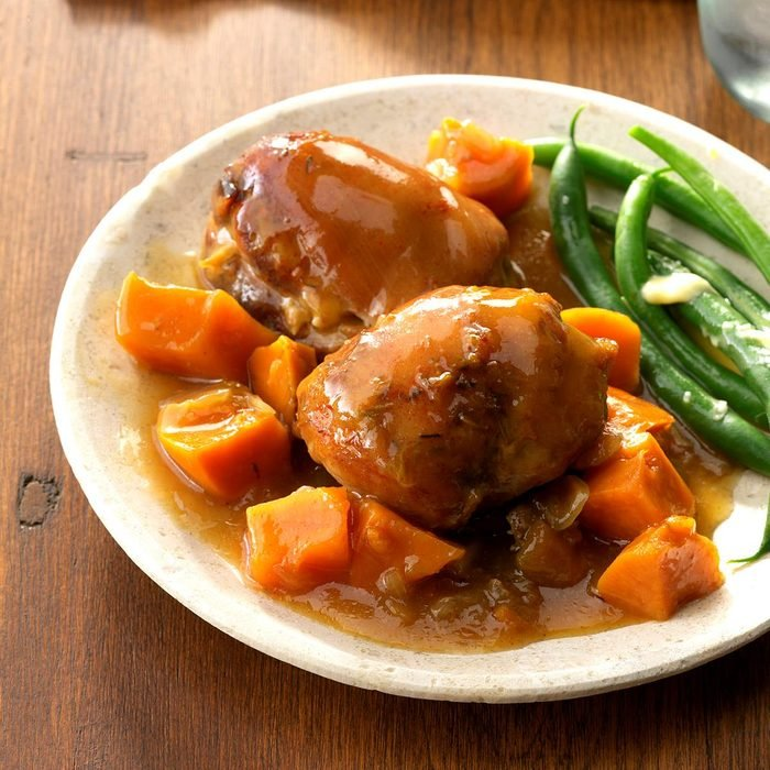 Peachy Chicken With Sweet Potatoes Exps Chkbz18 74819 C10 24 3b 3