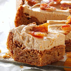 Peanut Butter & Bacon Blondies