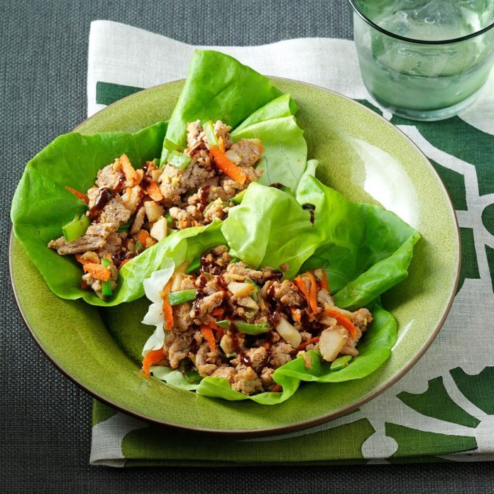 Day 6 Lunch:  Peanutty Asian Lettuce Wraps