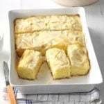 Pear Cake with Sour Cream Topping