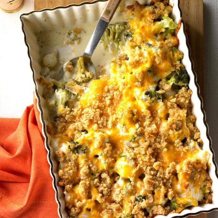 Maryland: Pearl Onion Broccoli Bake
