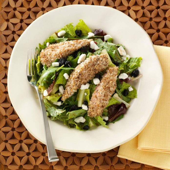 Pecan-Crusted Chicken Salad with Fig Vinaigrette