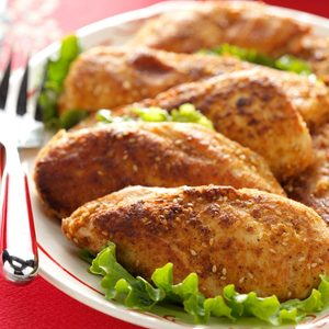 Pecan and Sesame Seed-Crusted Chicken