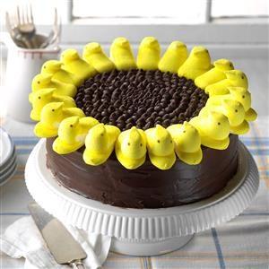 Spring Easter Lunch: Peeps Sunflower Cake