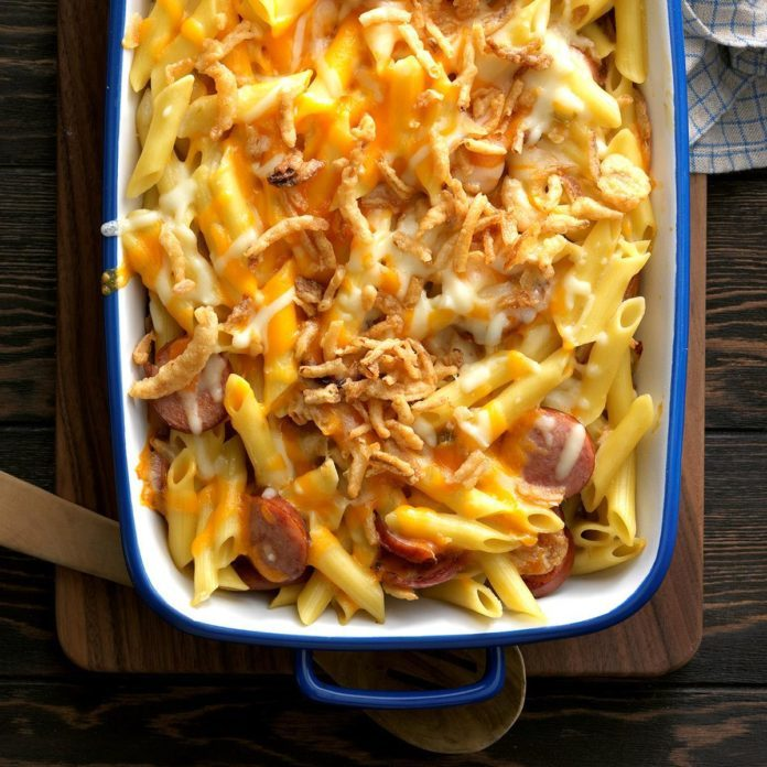 Penne and Smoked Sausage Casserole