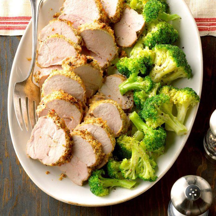 Pepper-Crusted Pork Tenderloin