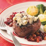 Peppered Filets with Cherry Port Sauce for 2