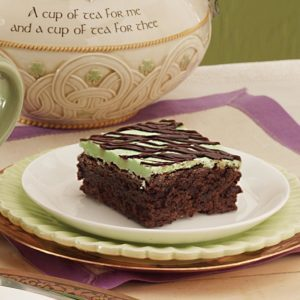 Peppermint Fudge Brownies