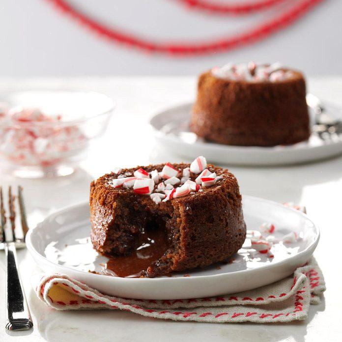 Peppermint Lava Cakes