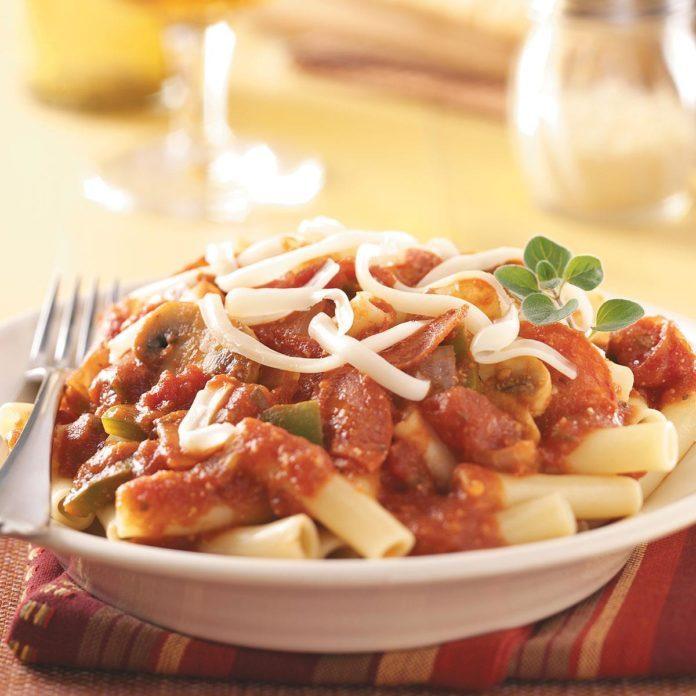 Pepperoni 'n' Tomato Pasta