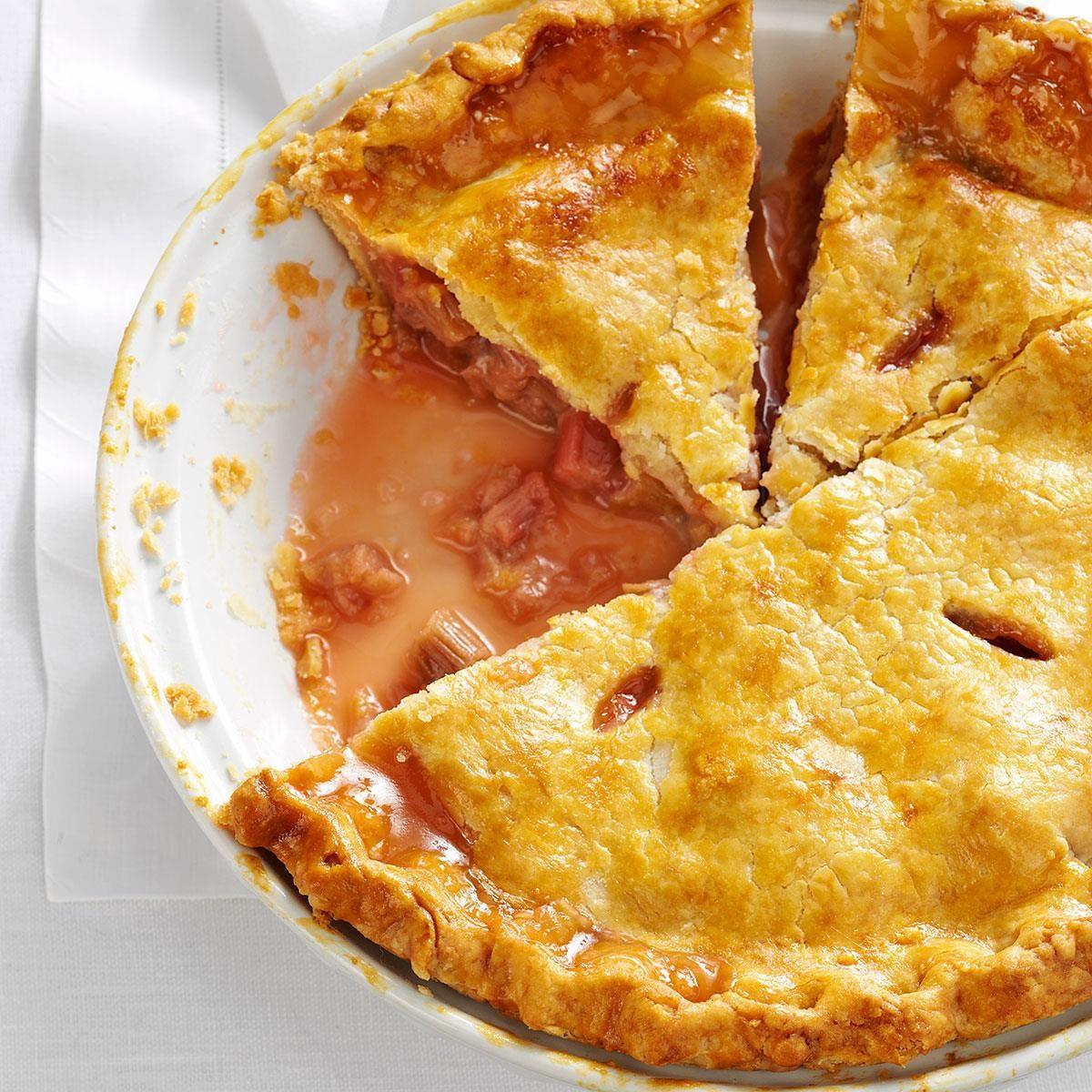 Perfect Rhubarb Pie Recipe | Taste of Home