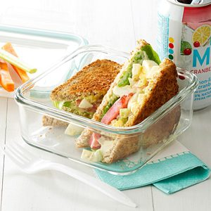 Pesto-Dijon Egg Salad Sandwiches