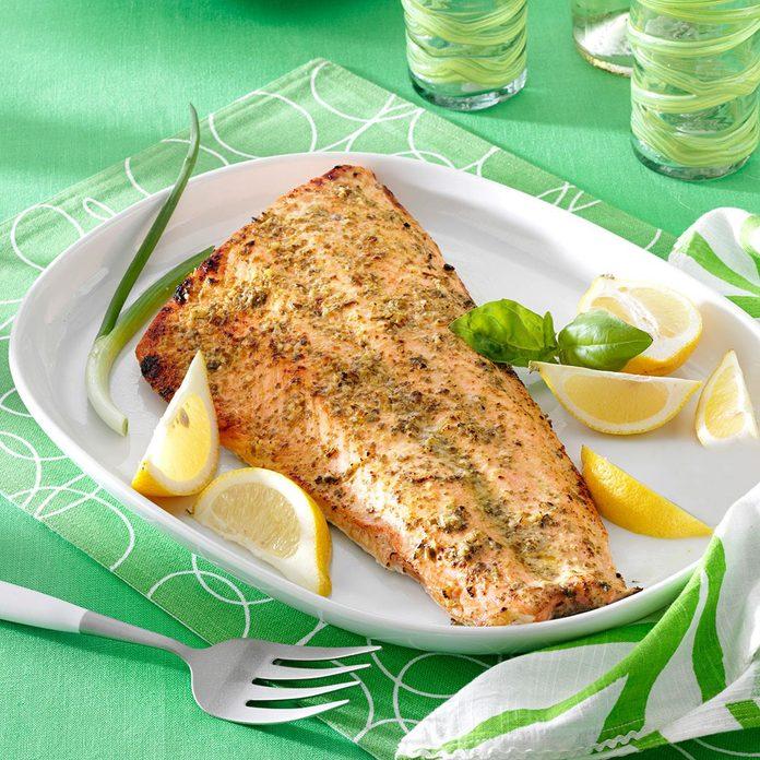 Pesto Grilled Salmon