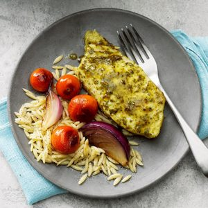 Pesto Halibut