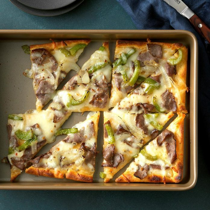 Day 24: Philly Cheese Steak Pizza