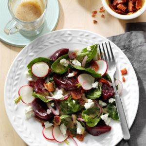 Pickled Beet Salad with Bacon Vinaigrette