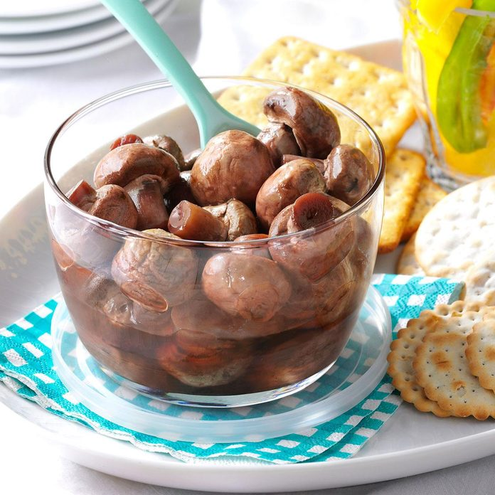 Pickled Mushrooms for a Crowd