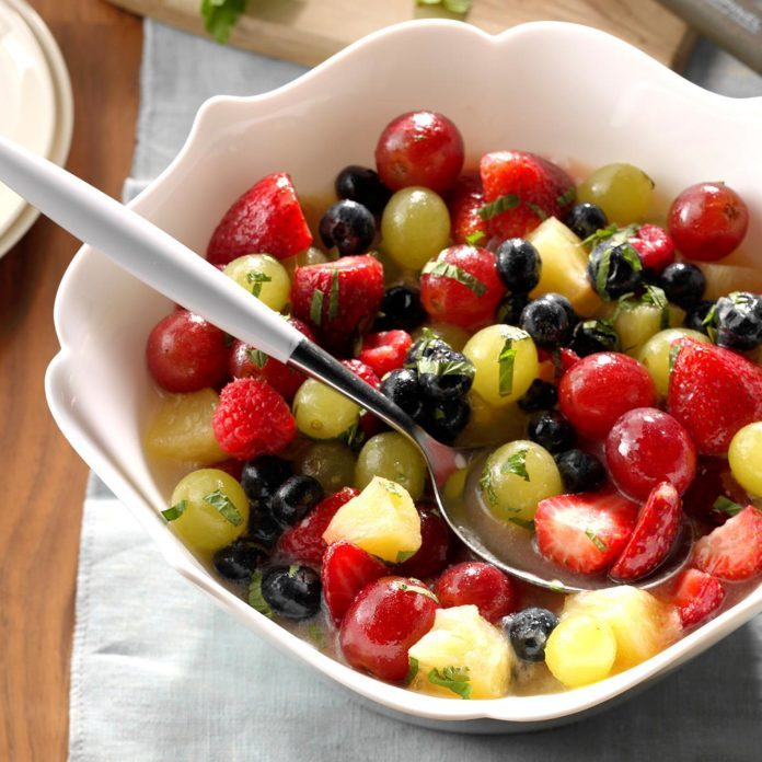 Pine colada fruit salad