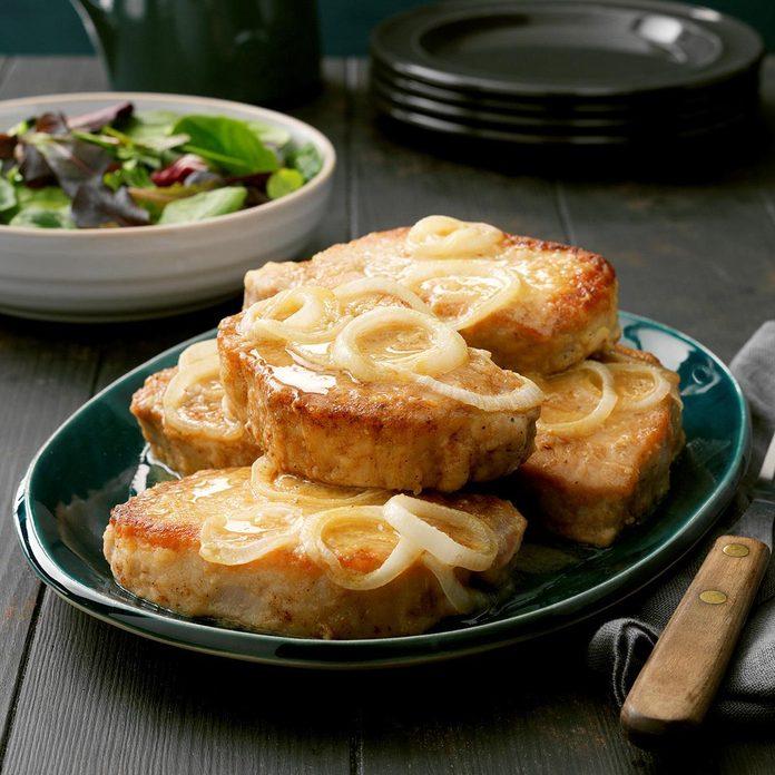 Pineapple-Onion Pork Chops