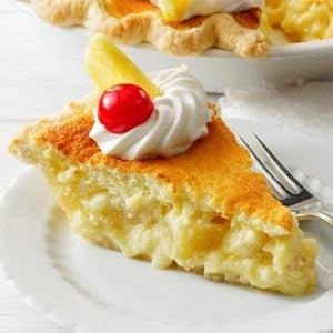 Pineapple Sponge Pie